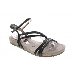 Tamaris Sandal i Sort Metal Remme