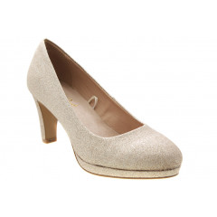 Roots Guld Glimmer Pumps