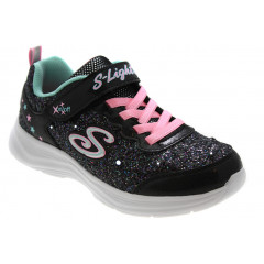 Skechers GlitterN'Glow Blinkesko Sort