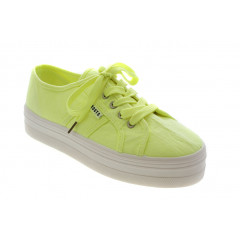Roots Plateau Sneakers i Neon Gul